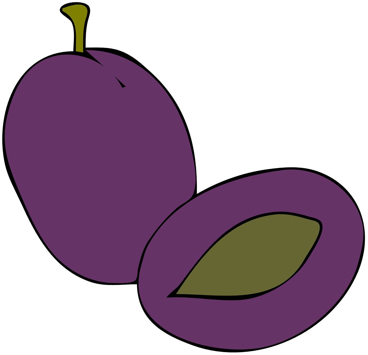plum purple fruit free photo