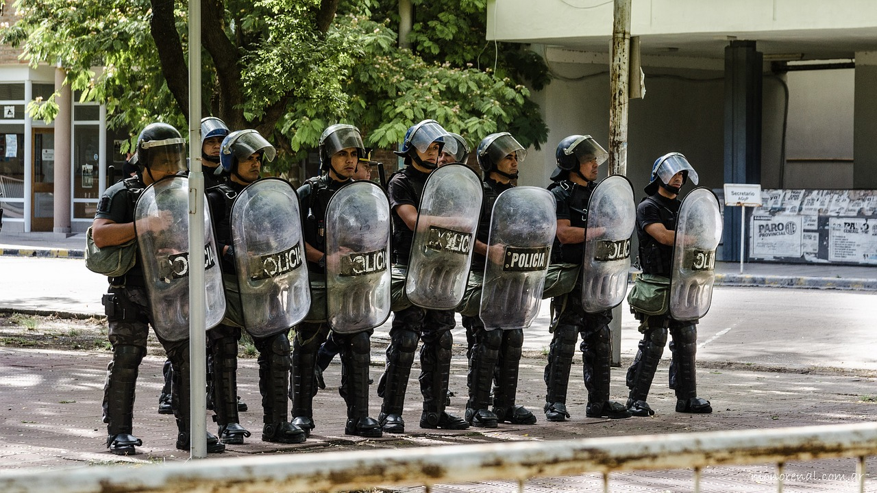 police protest shields free photo