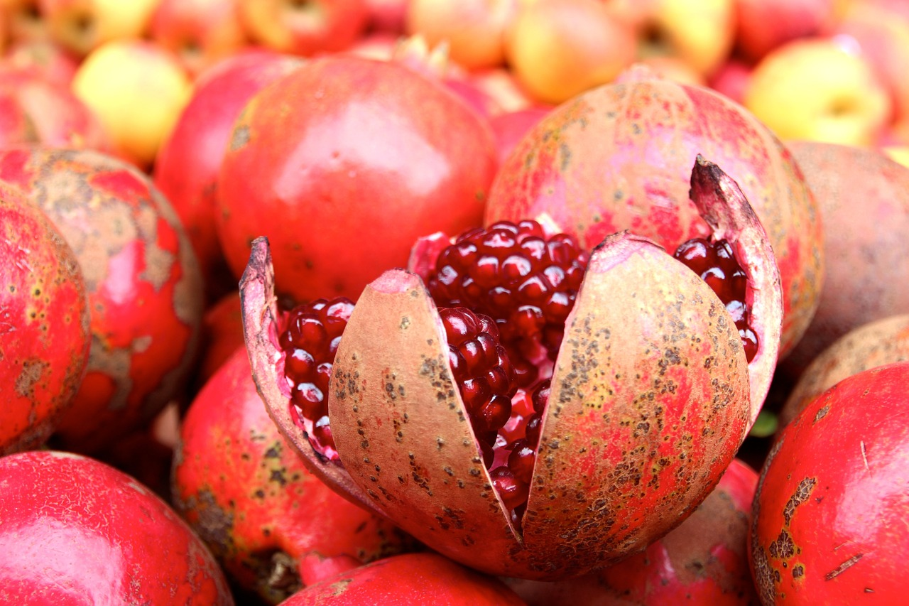 pomegranate fruit pomegranates free photo