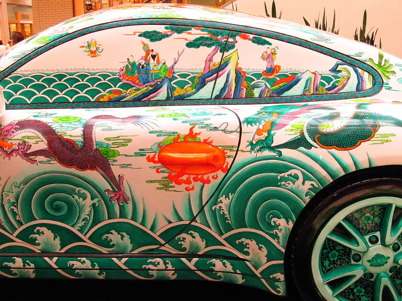 porsche oriental painting free picture