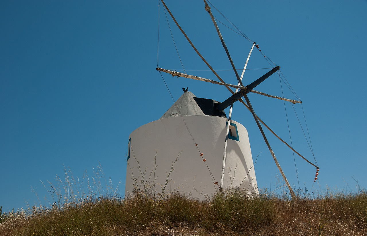portugal windmills wings free photo