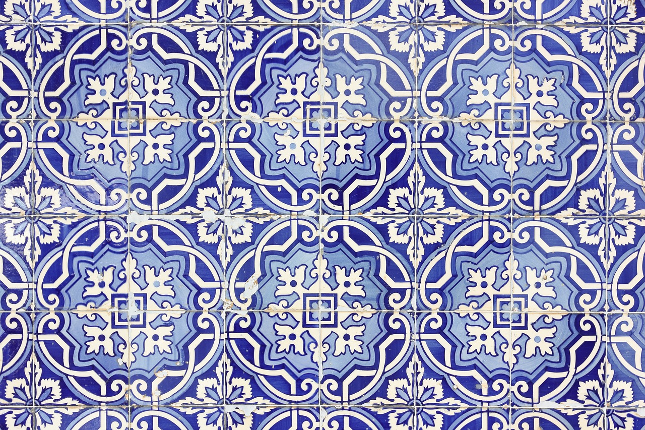 portugal ceramic tiles wall free photo