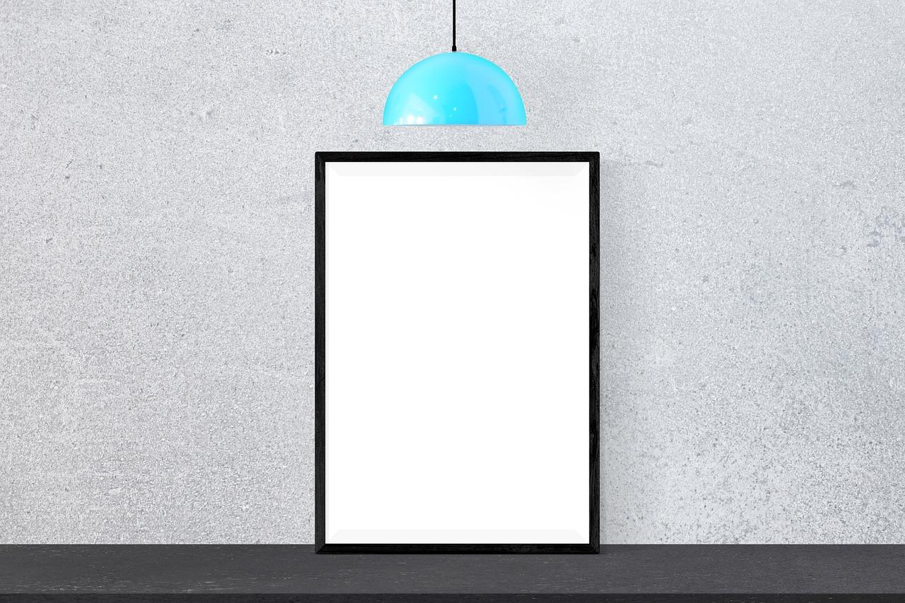 Poster Mockup Frame Presentation Desk Free Image From Needpix Com