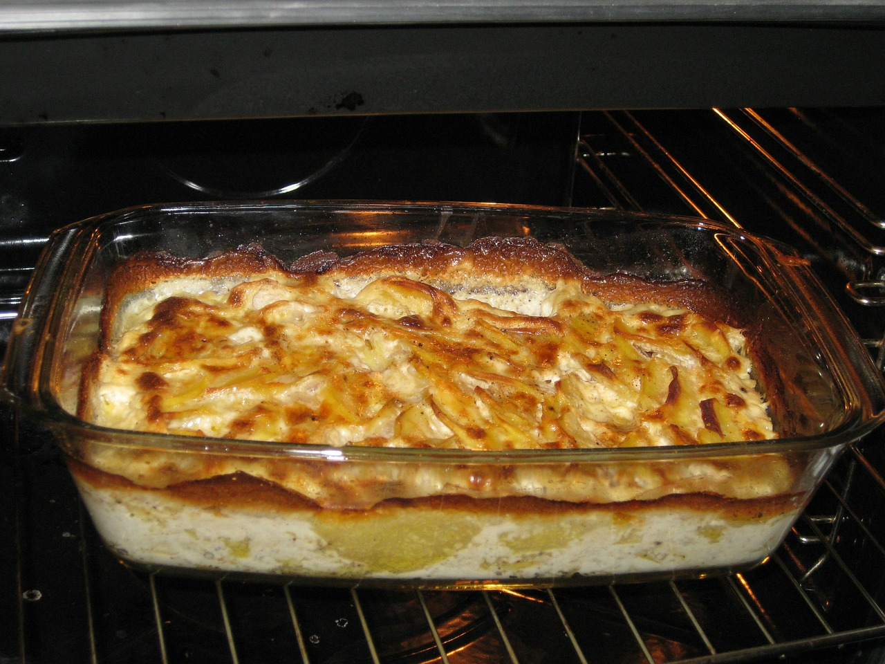 potato gratin eat oven free photo