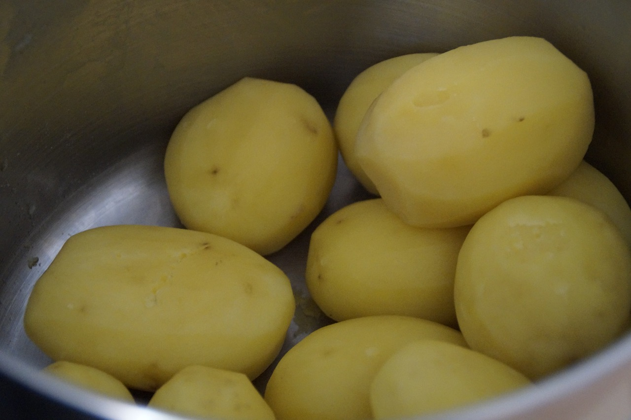 potatoes cooked cooking pot free photo