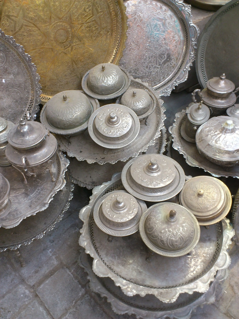 pots silver orient free photo
