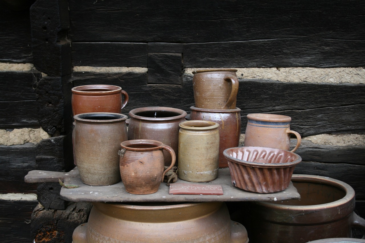 pottery pots ceramic free photo