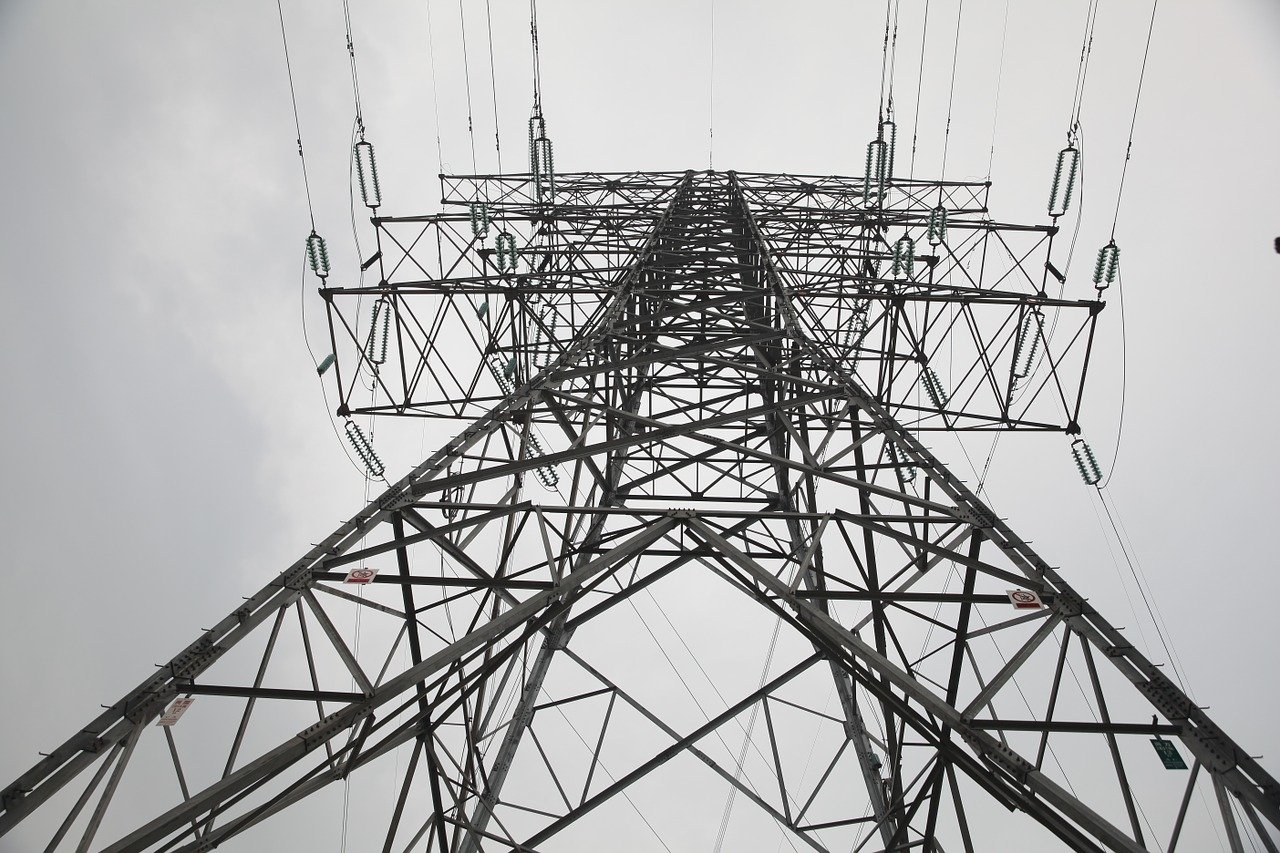 power transmission tower electricity transmission free photo