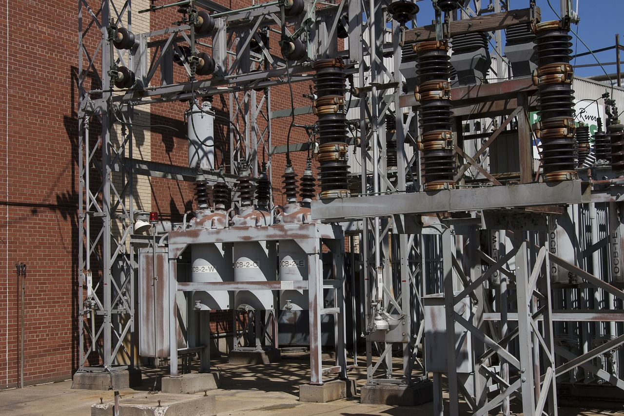 power generation switchyard electricity free photo