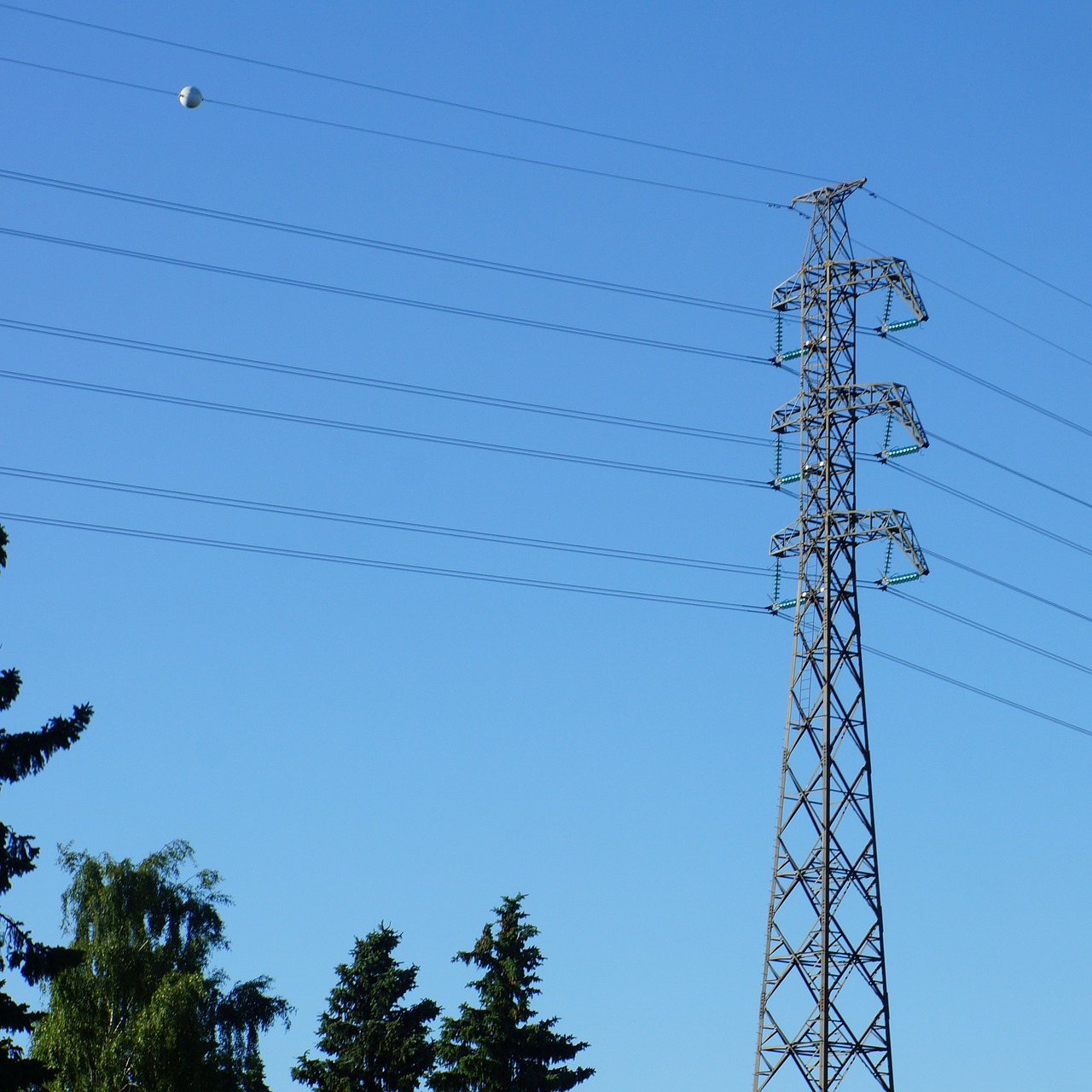 power line electricity pylon electricity supply free photo