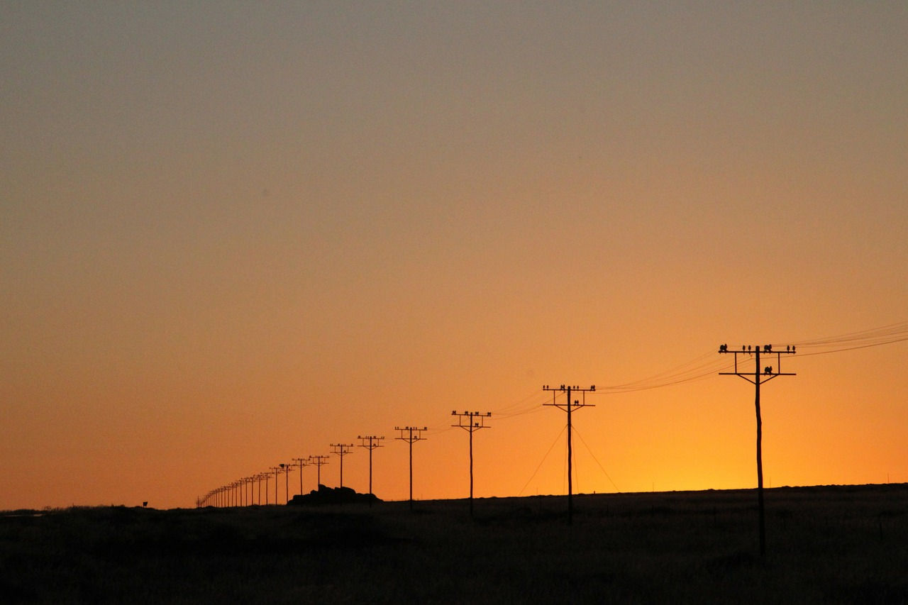 power poles utility poles electrical towers free photo