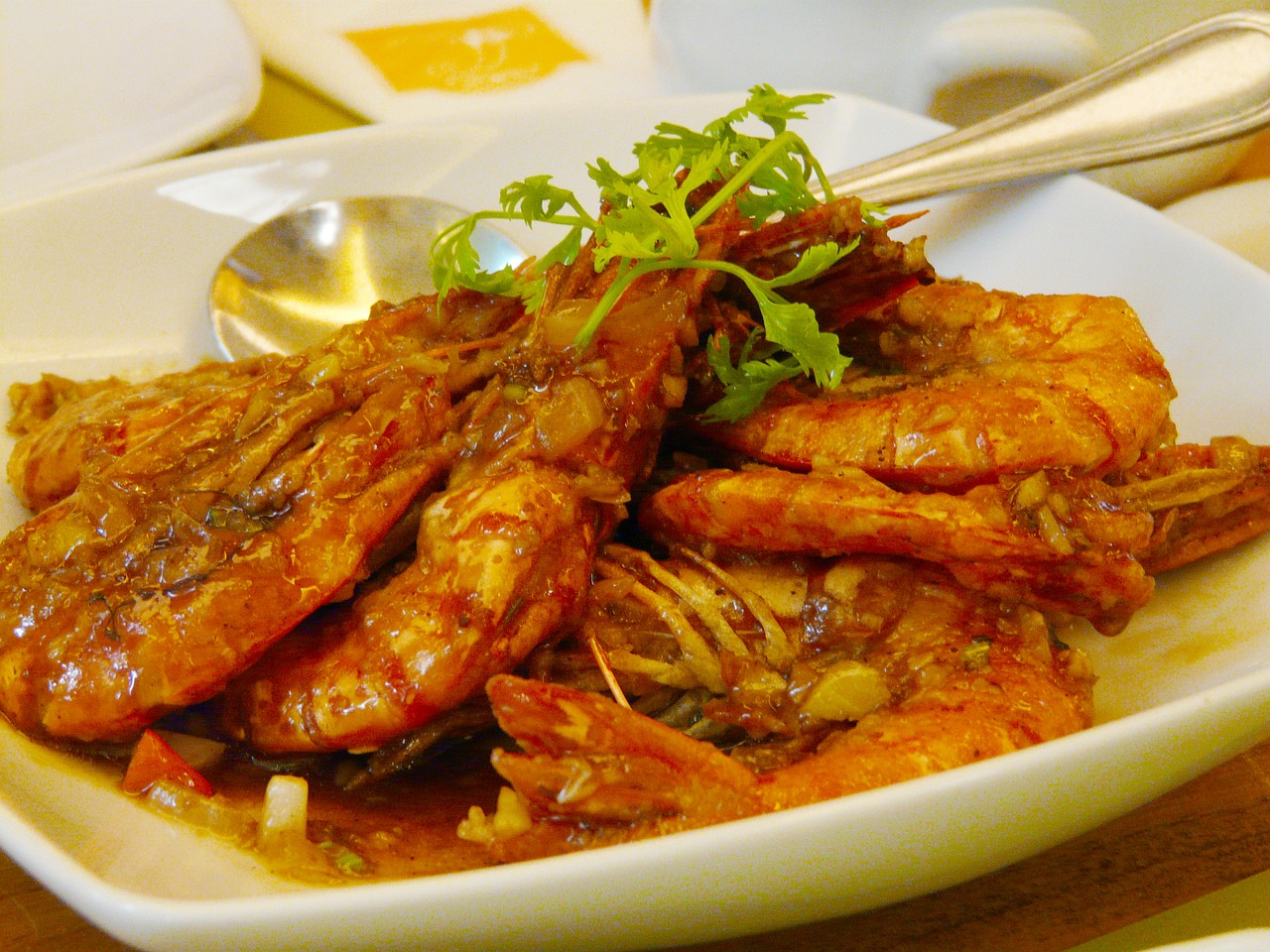 prawns food delicious free photo