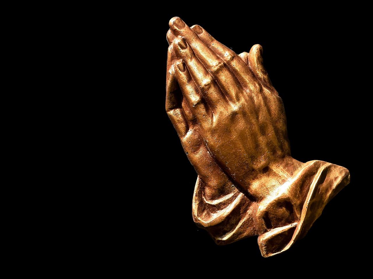 praying hands faith hope religion pray free photo from