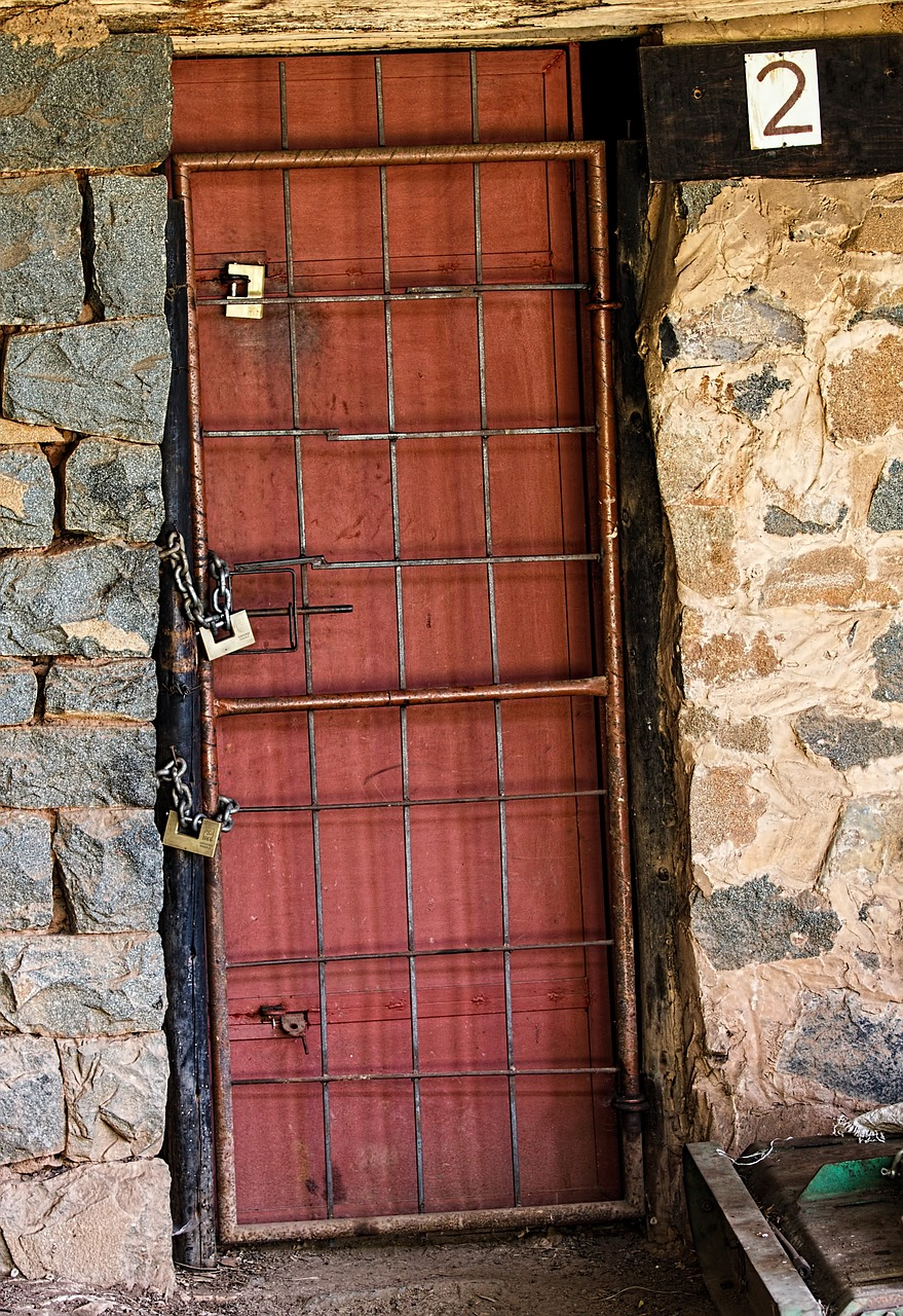 prison lock security free picture