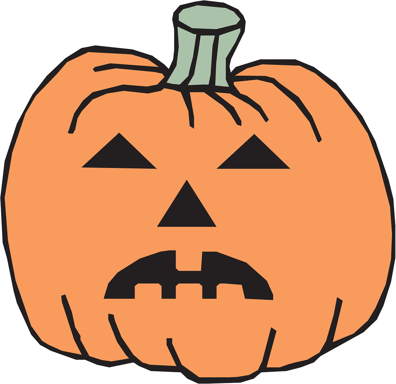 pumpkin halloween decoration free photo