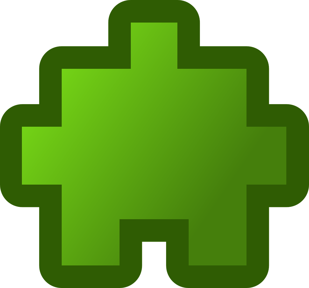 puzzle piece green free photo