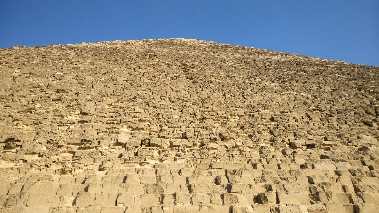pyramid  the great pyramid of giza  the stones free photo