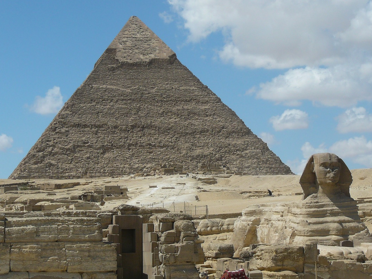 pyramids sphinx cairo free photo