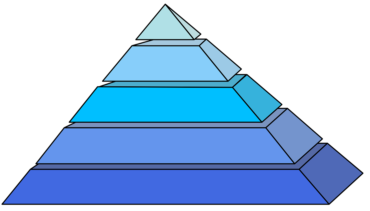 pyramids blue shape free photo