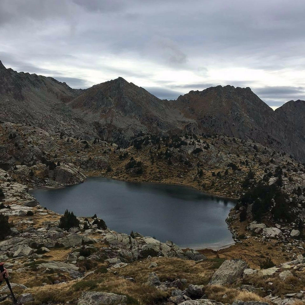 pyrenees lake landscapes free photo