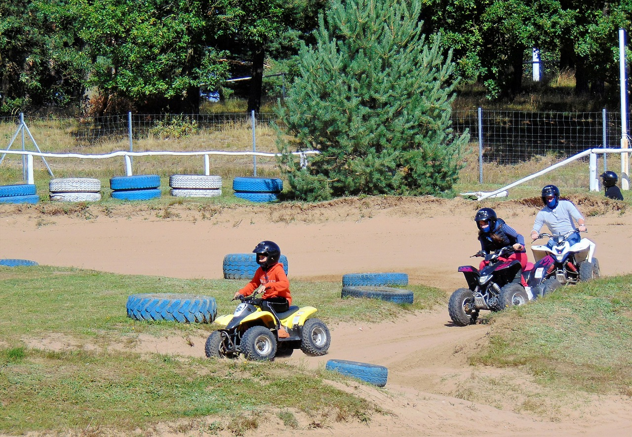 quad go kart track rügen free photo