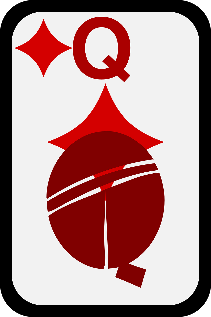 queen,casino,game,cards,diamonds,play,poker,bet,card,diamond,free vector graphics,free pictures, free photos, free images, royalty free, free illustrations, public domain