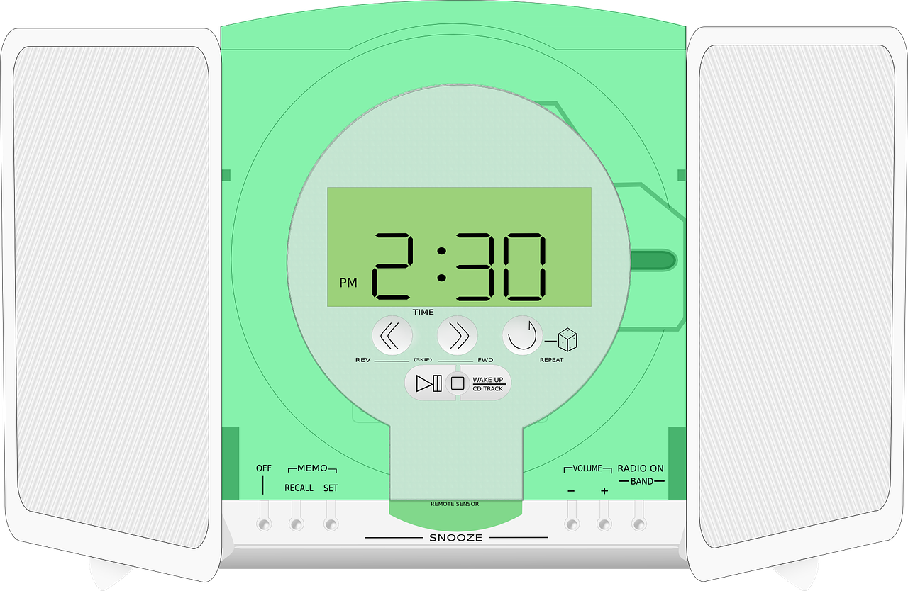 radio,player,clock,stereo,music,recreation,sound,audio,technology,entertainment,set,electronic,free vector graphics,free pictures, free photos, free images, royalty free, free illustrations, public domain