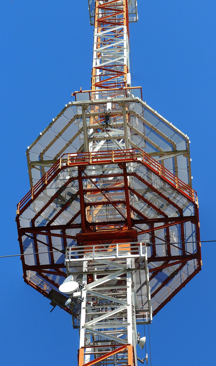 radio mast transmission tower platform free photo