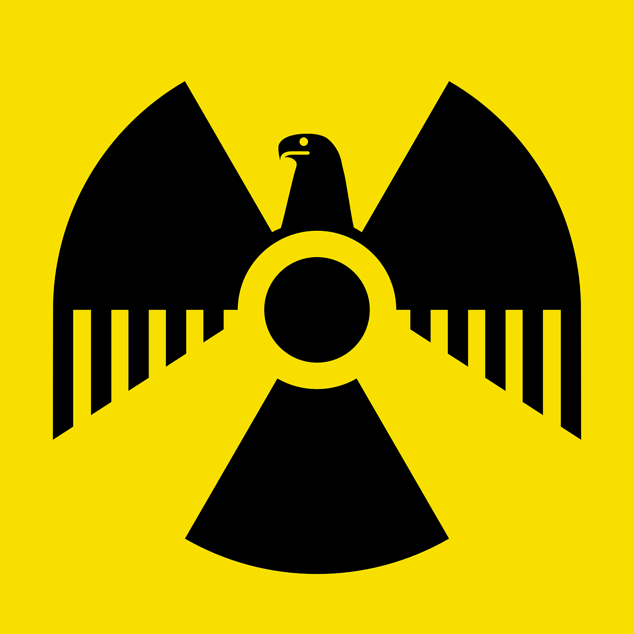 radioactive symbol german free photo