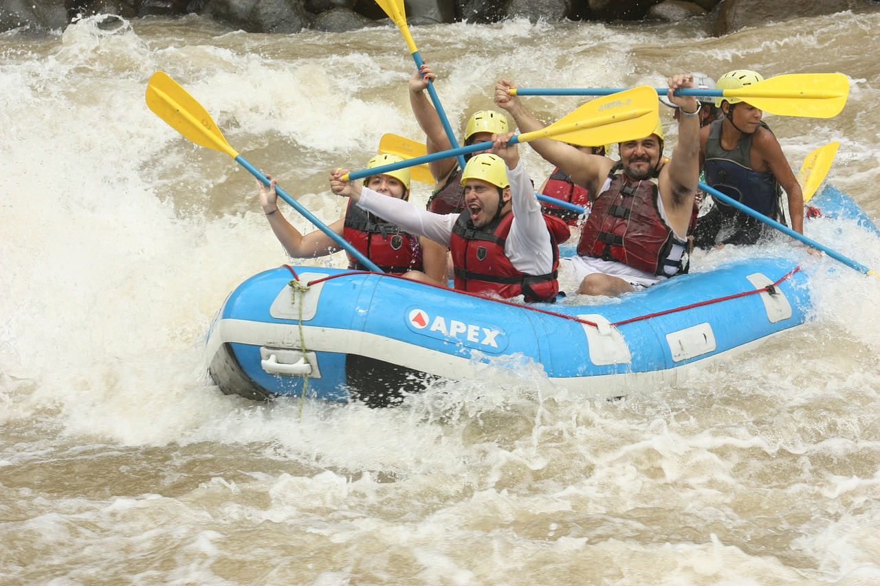 rafting river happy free photo