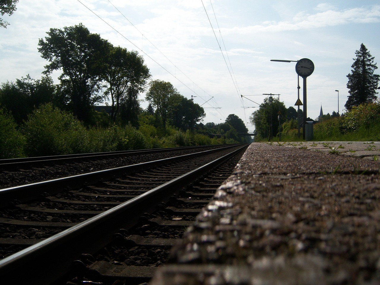 railway rails railway station railway free photo