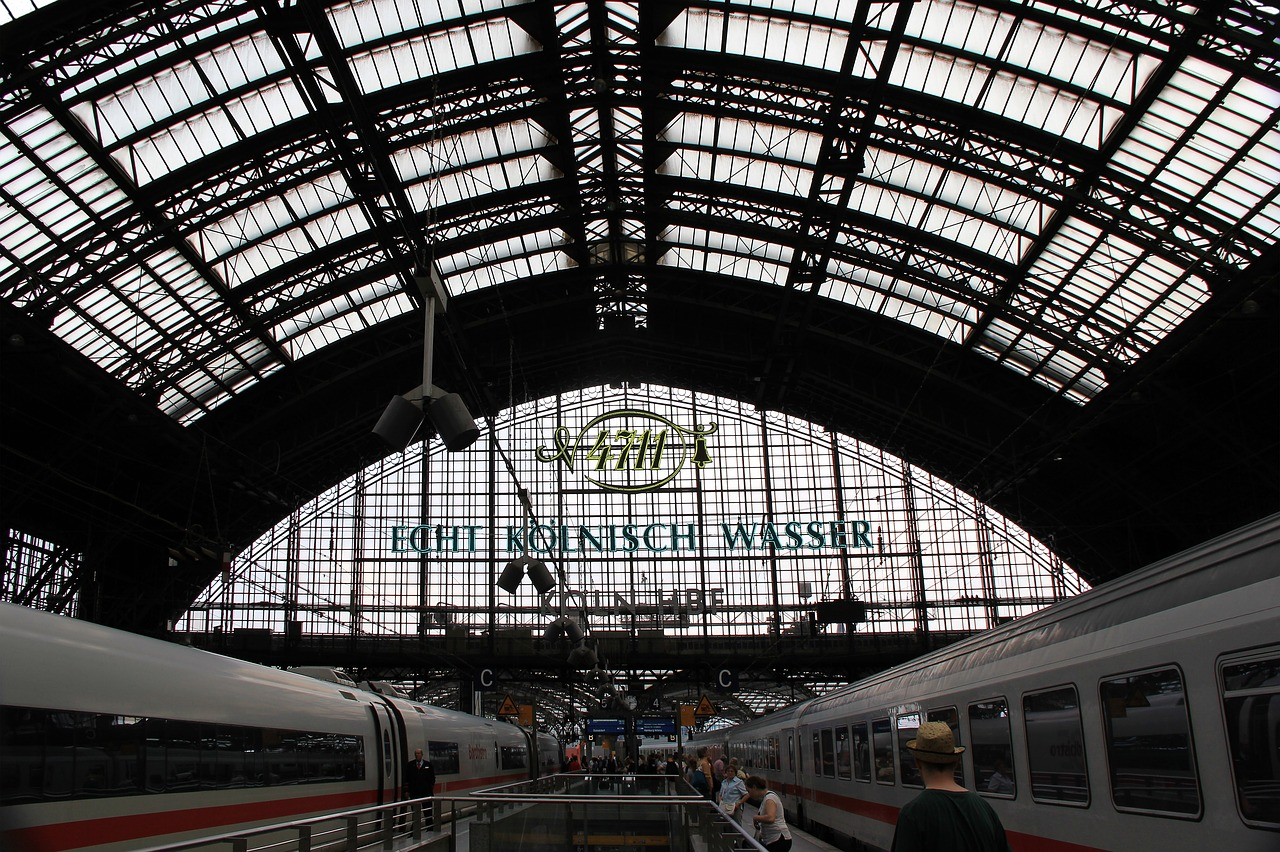 railway station cologne station roof free photo