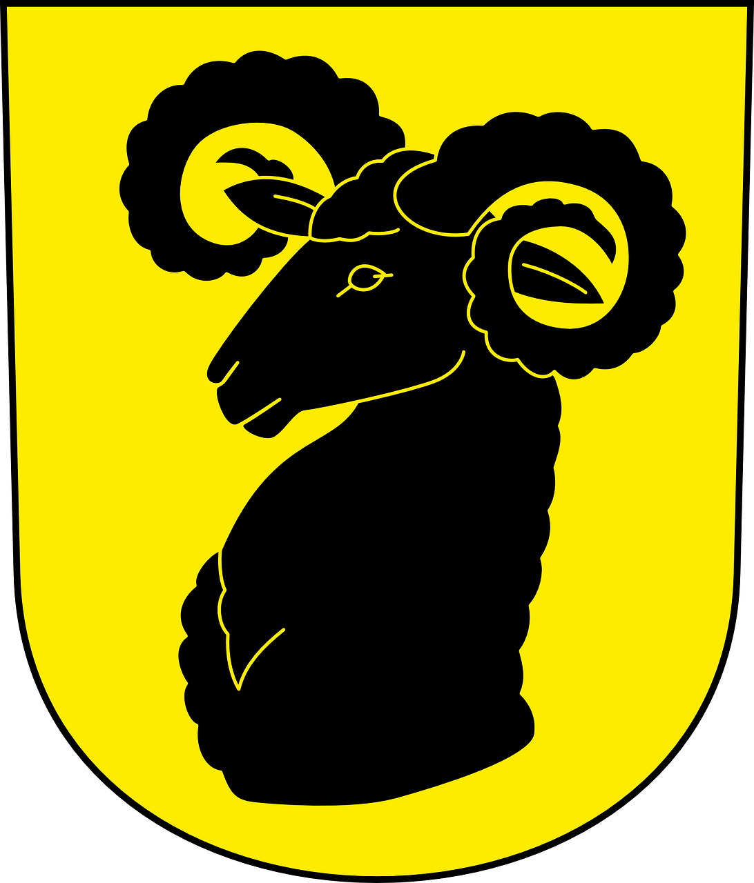 ram goat coat of arms free photo