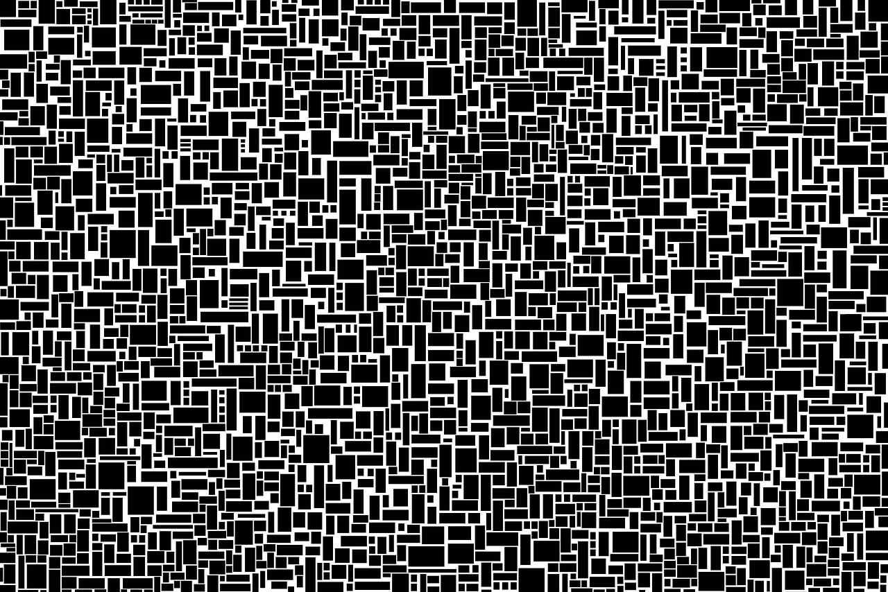 random rectangle pattern black and white free picture