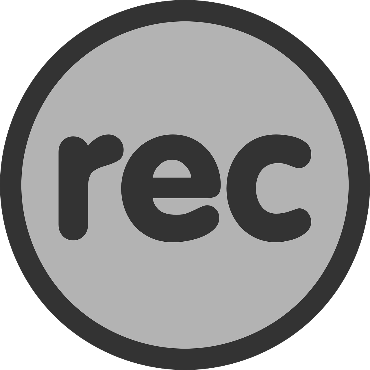 record button sign free photo