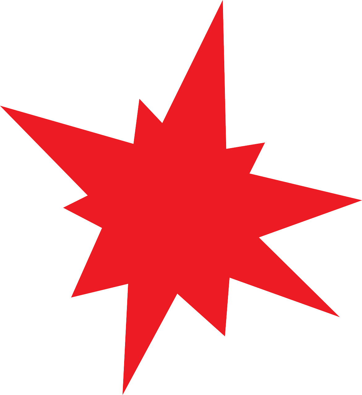 red star asterisk free photo