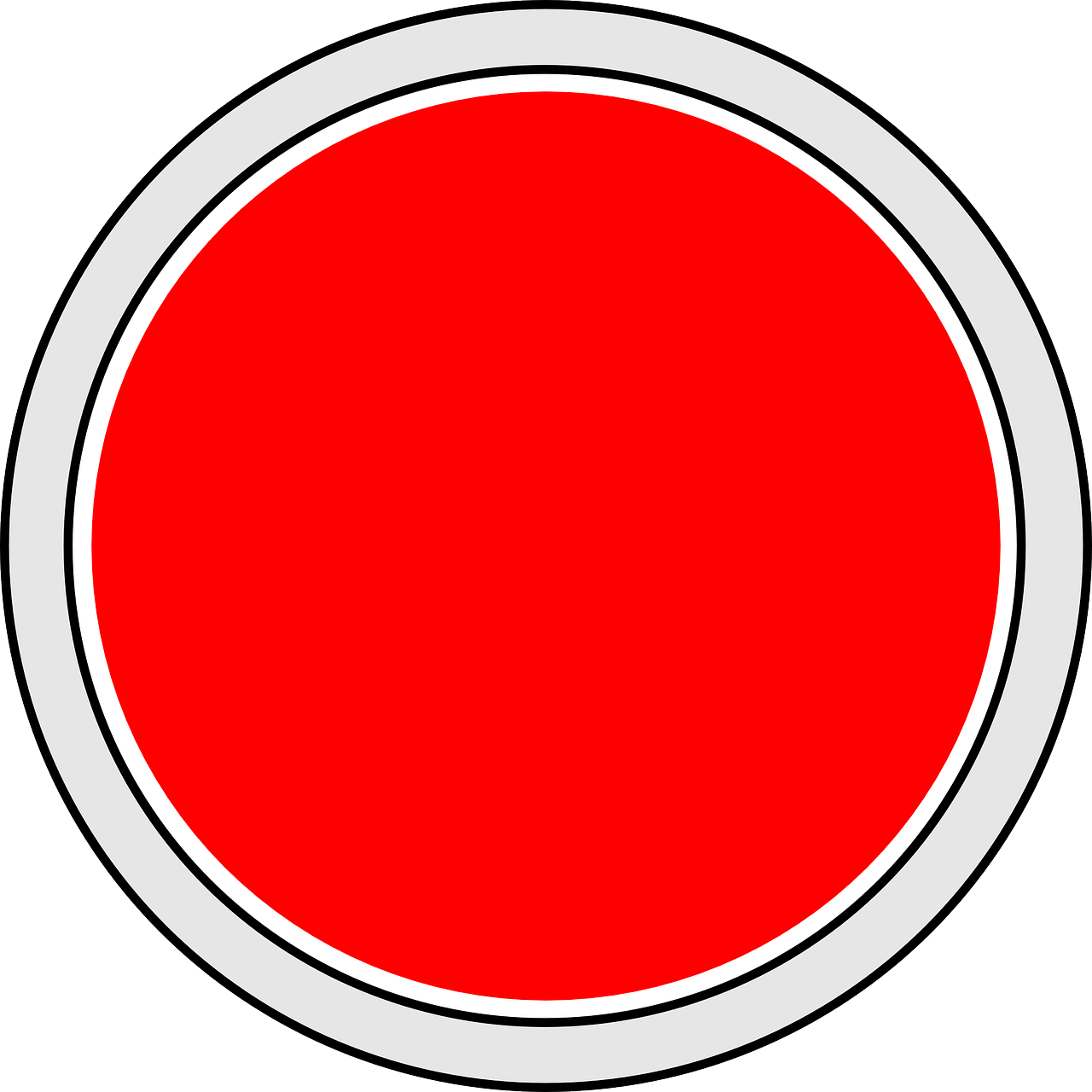 red button circle free photo