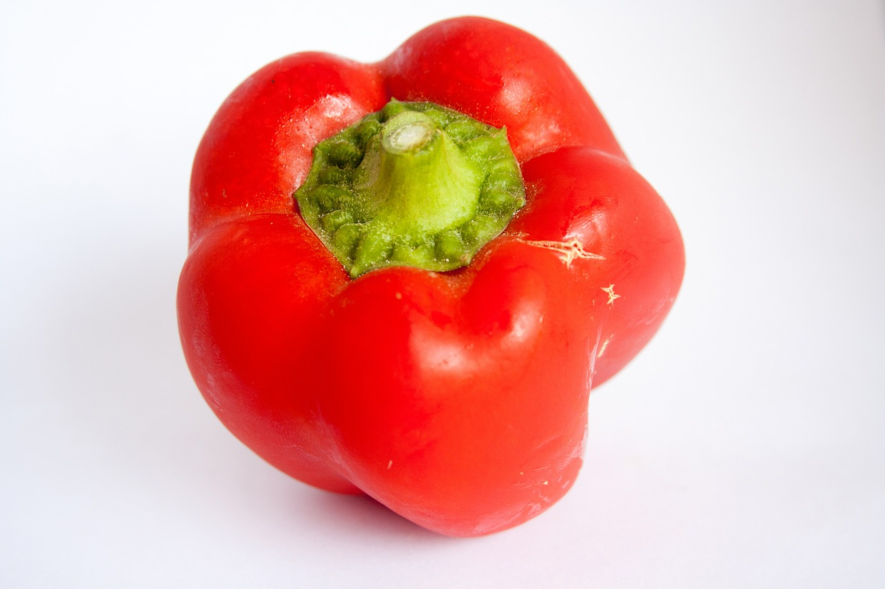 red bell pepper red pepper sweet pepper free picture