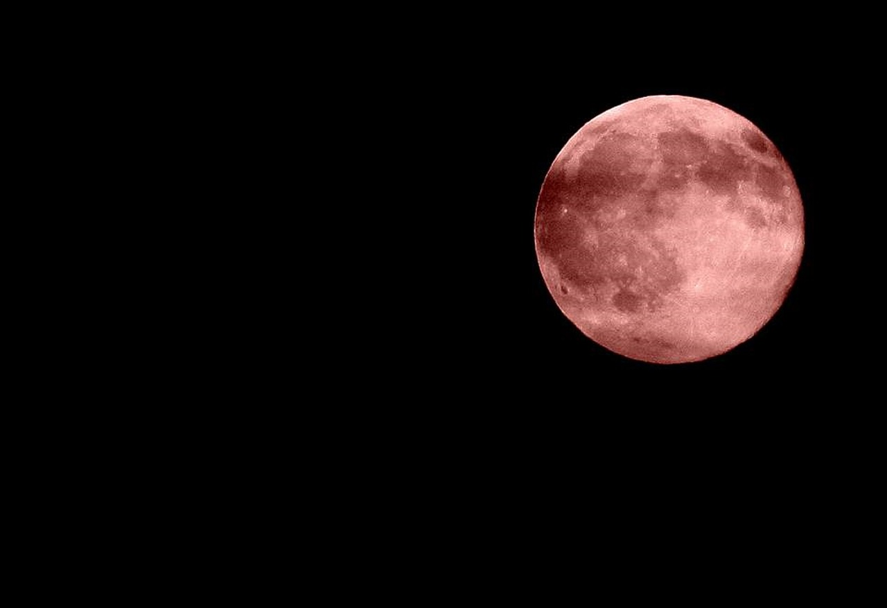 red moon darkness night free photo