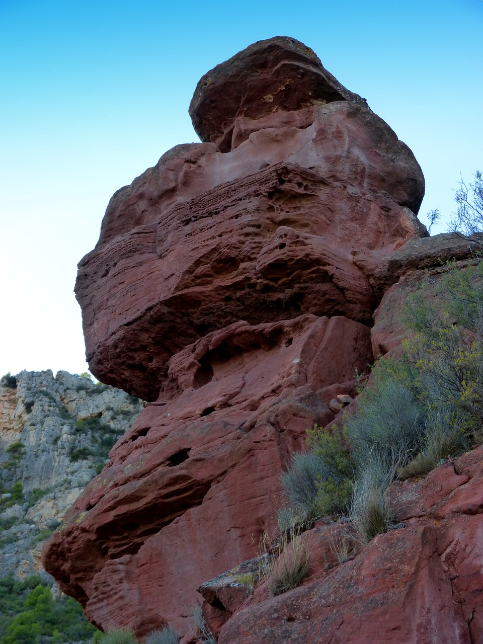 red rock sandstone erosion free photo