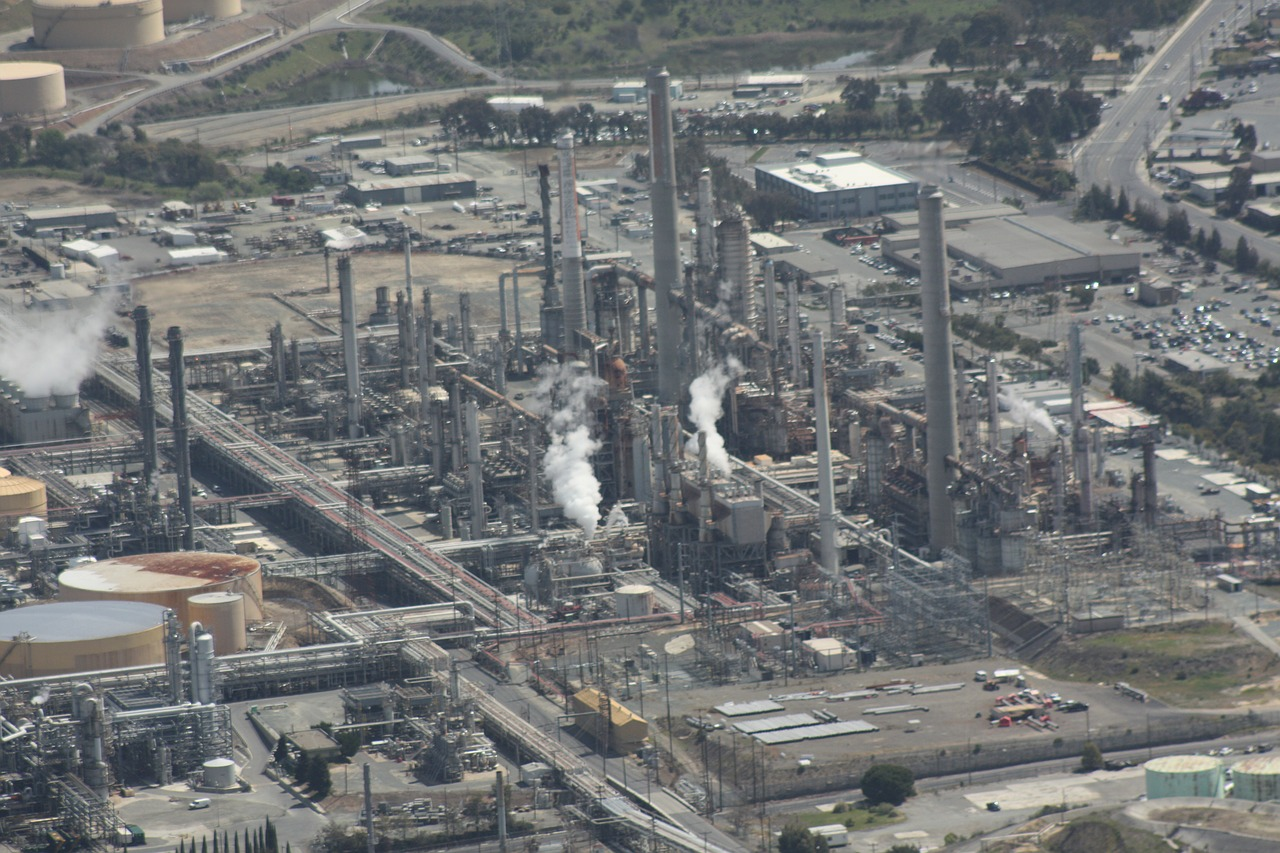 refinery oil aerial free photo