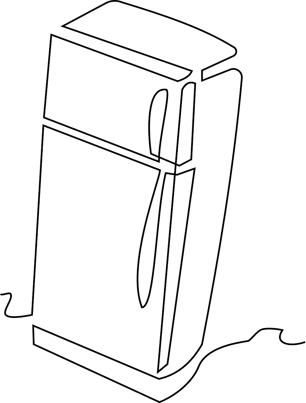 refrigerator kitchen clipart free picture
