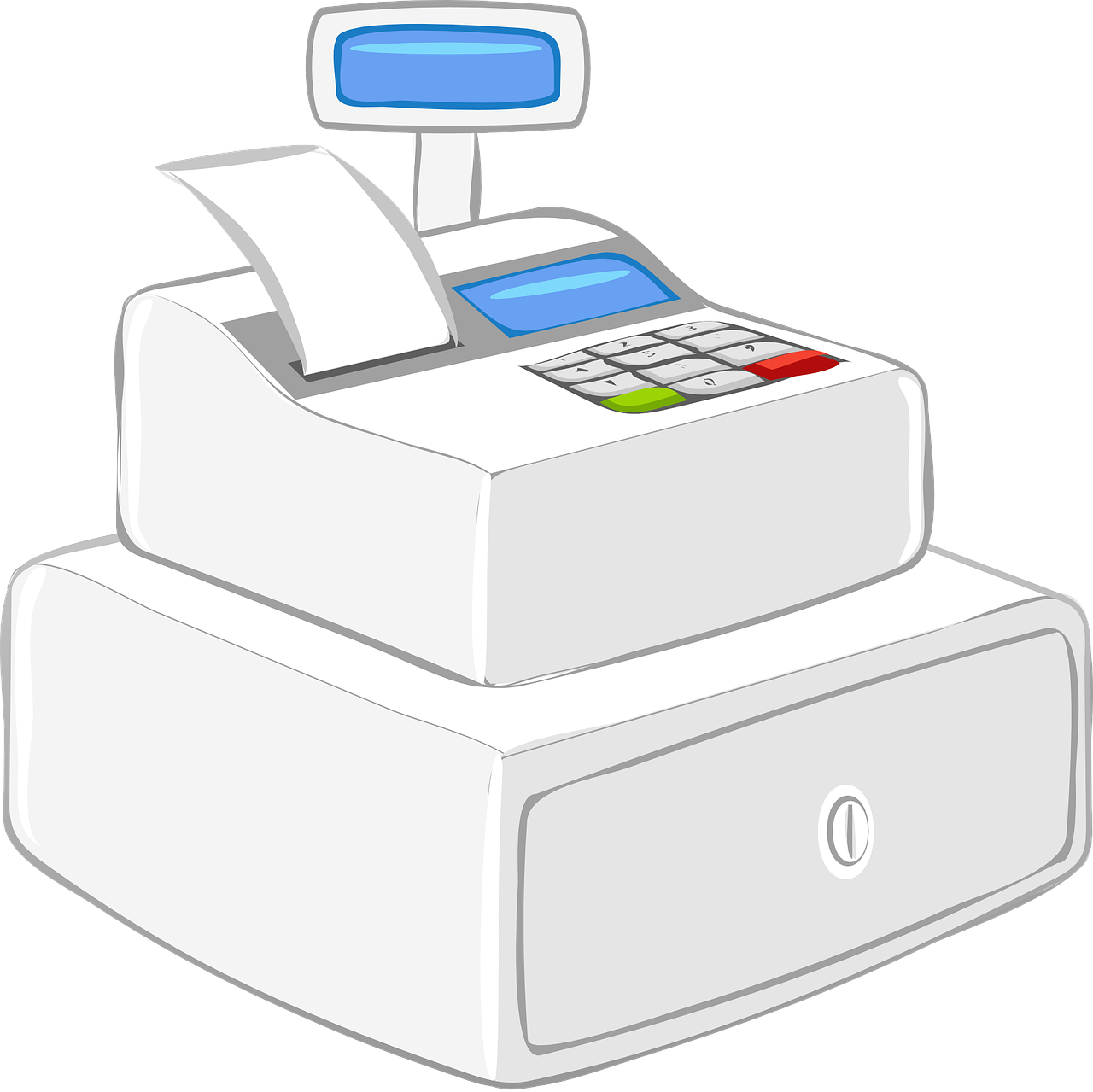 register cash register modern free photo