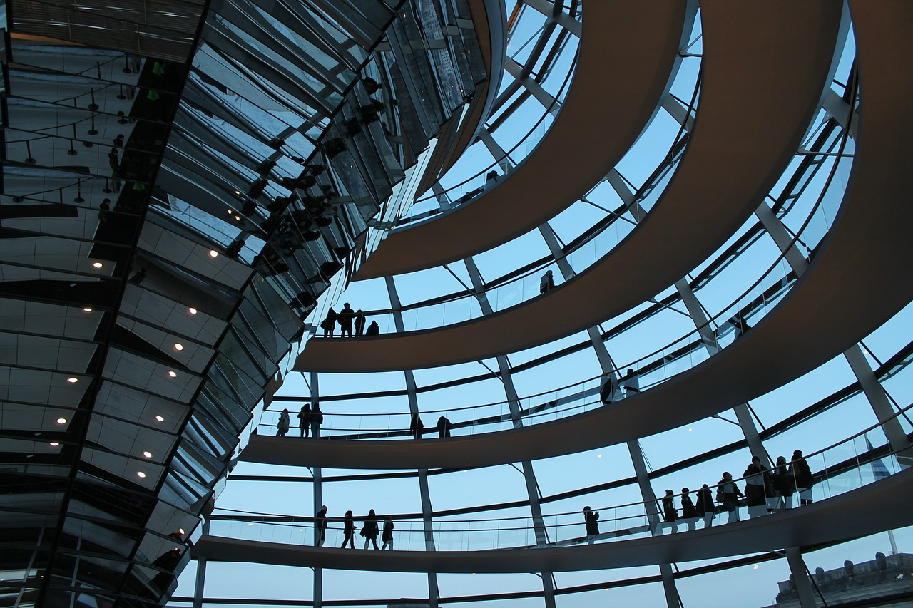 reichstag glass dome bundestag free photo