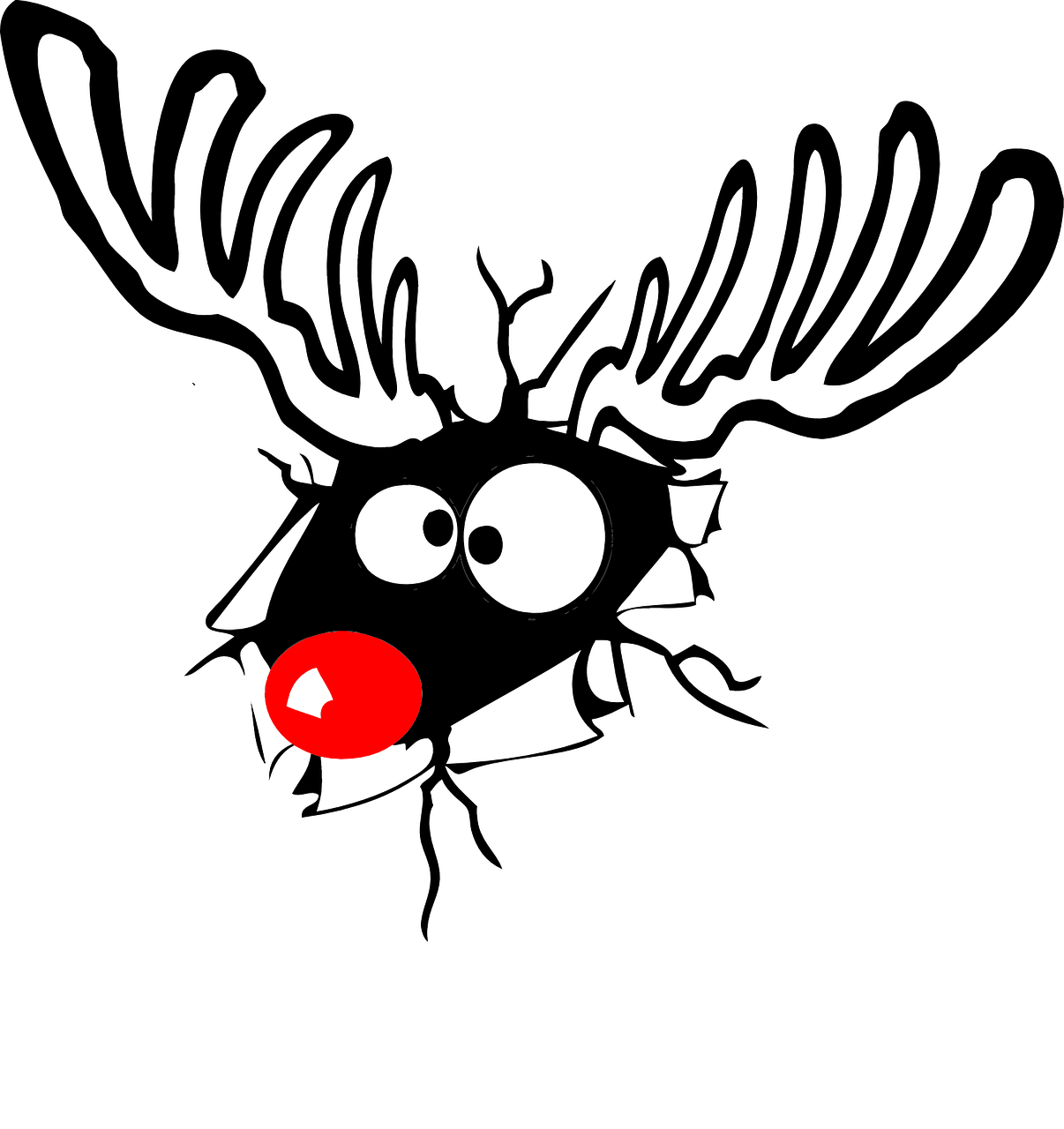 reindeer rudolph red nose free photo