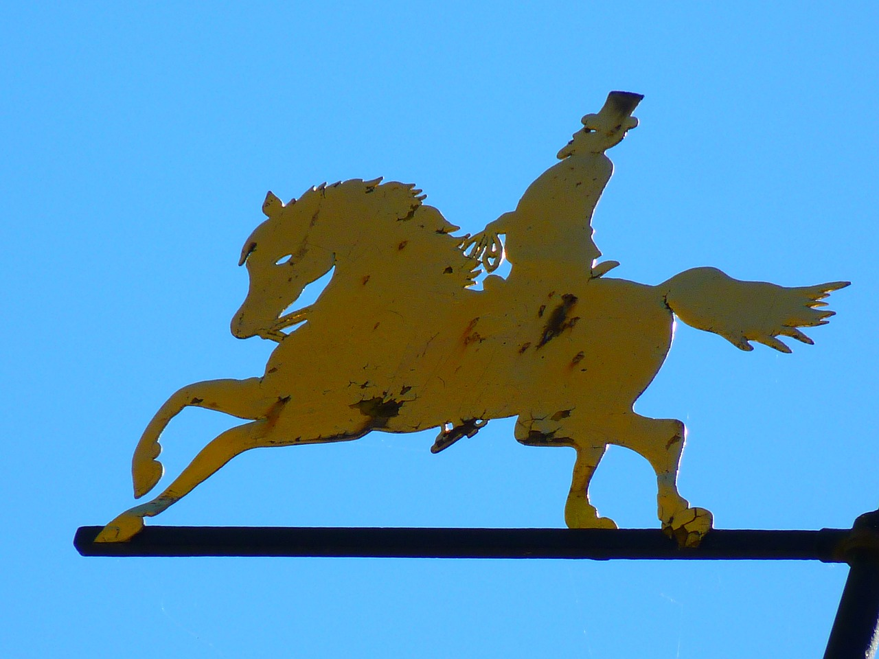reiter horse weathervane free photo