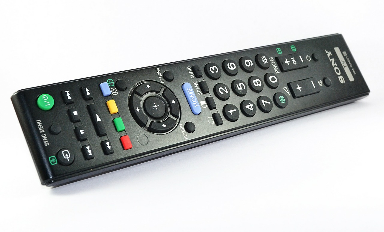 remote control tv television free photo