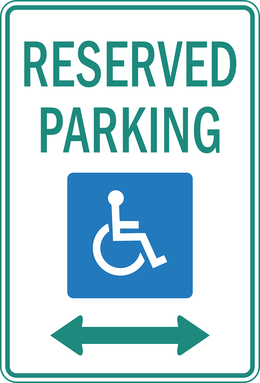reserved parking car free photo