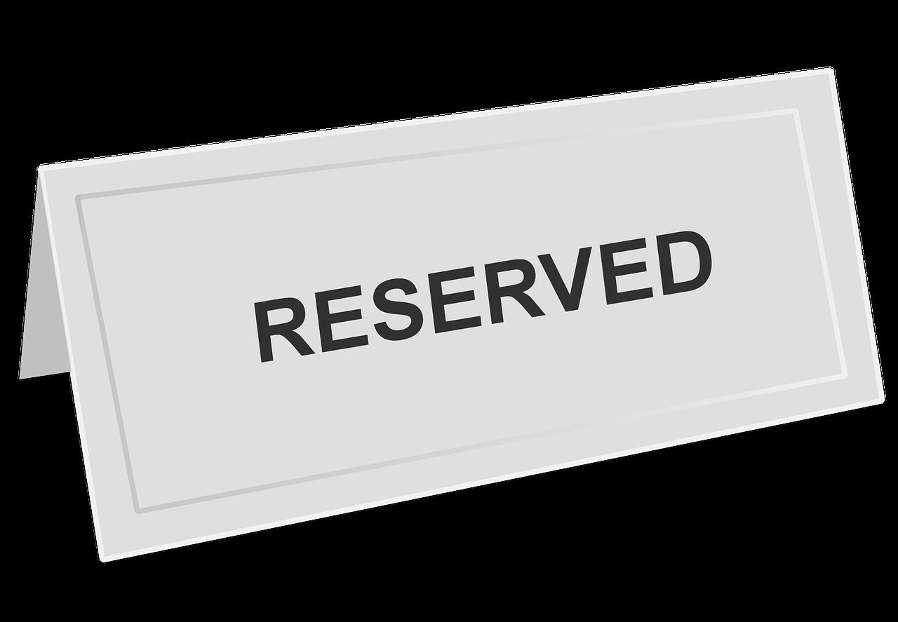 Reserved sign,reservation,restaurant,reserved,celebration - free ...