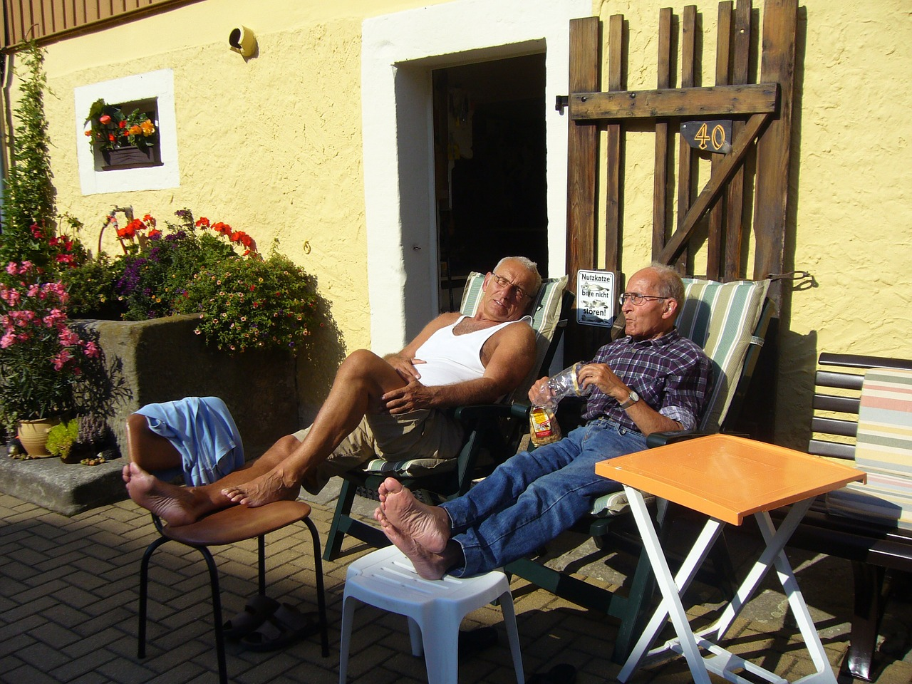 rest,seniors,pensioners,men,summer resort,farm,older,older gentlemen,men's,holiday,free pictures, free photos, free images, royalty free, free illustrations, public domain